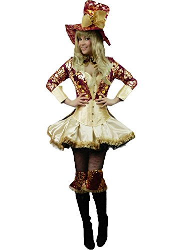 Yummy Bee Mad Hatter Tea Party Costume Womens Cosplay Plus Size 2 - 16