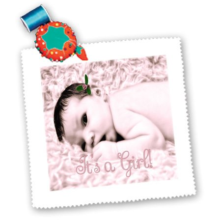 Qs_173201_3 Doreen Erhardt Baby Designs - Newborn Baby Girl In Soft Pinks For New Baby - Quilt Squares - 8X8 Inch Quilt Square front-141983