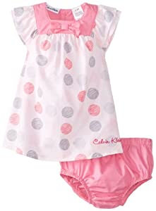 Calvin Klein Baby-Girls born Printed Dress with Panty by Calvin Klein