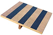 "Balance Rocker Board, 14"" X 15"" Wood with Traction Strips"