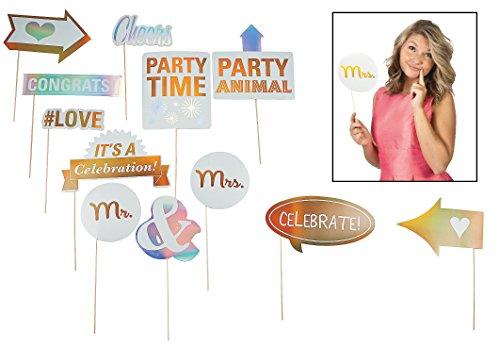 Wedding Photo Stick Props (12 Pack)