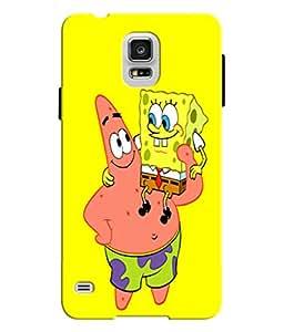 EU4IA Sponge Bob Square Pants Pattern MATTE FINISH 3D Back Cover Case For SAMSUNG GALAXY S5 - D088