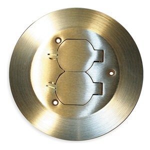 Cover & Carpet Flange, Round, Duplex, Brass