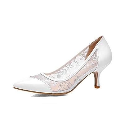 BalaMasa Ladies Mesh Soft Material Pumps-Shoes