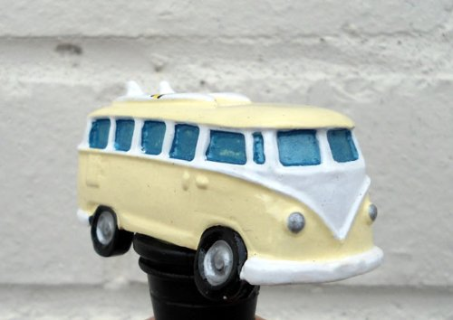 VW Campervan Bottle Stopper in Cream