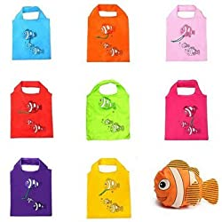 1pc Random Sent Little Fish Reusable Folding Shopping Bag Travel Grocery Tote