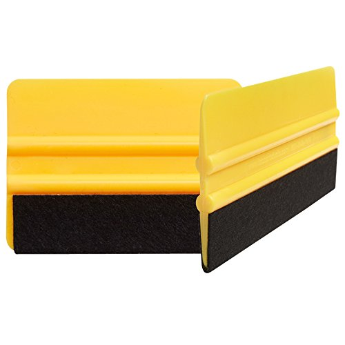 Best felt tipped squeegee 2PACK. Automotive squeegee for carbon fiber vinyl, fibra de carbono 3M, vinal wrap for cars, vvivid vinyl. Promoter pen helps. Apply xpel paint protection film & window tint. (Window Tint Scratch Remover compare prices)