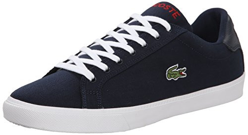 Lacoste Men's Grad Vulc Fb Fashion Sneaker Fashion Sneaker, Navy/red, 7 M US