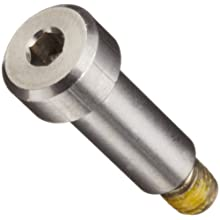 303 Stainless Steel Shoulder Screw, Hex Socket Drive, Nylon Patch