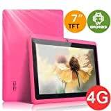 7″ inch Capacitive Touch Screen Allwinner A13 1.0GHz CPU (up to 1.5GHz maximum)Processor Android 4.0.3 (Latest Ice Cream Sandwich OS) Tablet PC 4GB HDD 512MB WiFi MID Epad Flash Player 11.1 – Compatible with BBC iPlayer / Youtube / Facebook (Pink)