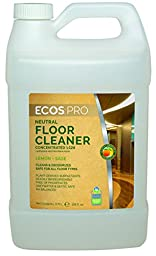Earth Friendly Products Proline PL9325/04 Lemon-Sage Neutral Floor Cleaner, 1:128 Concentrate, 1 gallon Bottles (Case of 4)