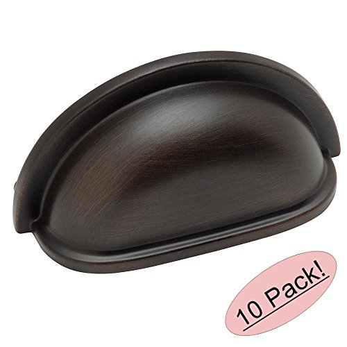 Cosmas® 4310ORB Oil Rubbed Bronze Cabinet Hardware Bin Cup Drawer Handle Pull - 3