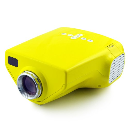 Lightinthebox® Mini Hd Home Theatre Movie Super Bright Led Technology Early Childhood Home Video Projector - Yellow Color