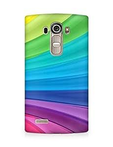 Amez designer printed 3d premium high quality back case cover for LG G4 (Rainbow Swirl)