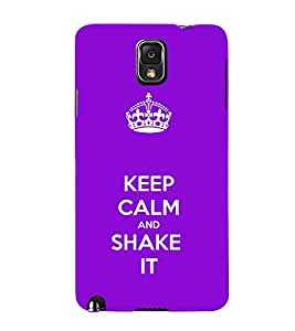 EPICCASE Shake it Mobile Back Case Cover For Samsung Galaxy Note 3 (Designer Case)