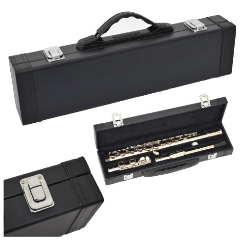 Tui en cuir synth tique pour fl te traversi re noir bois for Housse flute traversiere