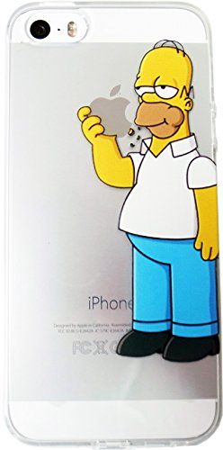 ★ LCD protective film with ★ The Simpsons iPhone5/5 s case Type B ClearCase anime Apple Apple the Simpsons スマホケース iPhone 5 iPhone 5 iPhone case s