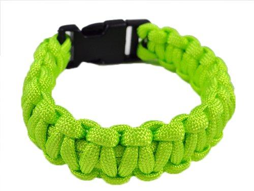 New Unisex Paracord Bracelet (Neon Green)