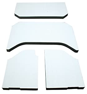 DEI 050141 Boom Mat White Sound Deadening Headliner for Jeep Wrangler