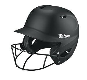 Wilson Collegiate 2.0 Fitting Batting Helmet with Softball Mask, Black, XX-Large by Wilson