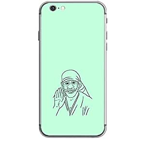 Skin4gadgets Shirdi Sai Baba - Line Sketch on English Pastel Color-Sky Blue Phone Skin for IPHONE 6 PLUS