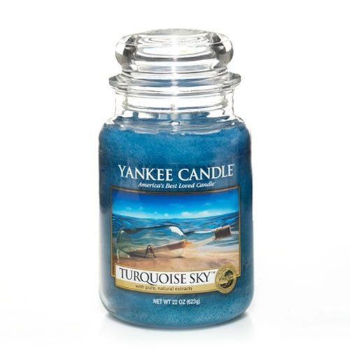 Yankee Candle 22-Ounce Jar Candle, Large, Turquoise Sky