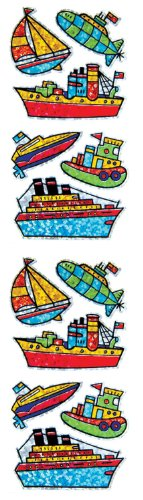 Jillson Roberts Prismatic Stickers, Boats and Ships, 12-Sheet Count (S7257)