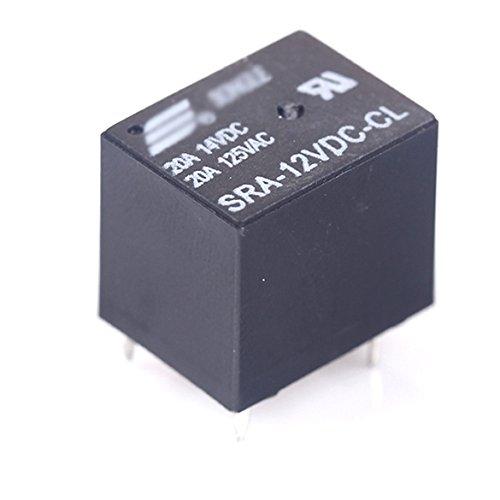2Pcs Sra-12Vdc-Cl Dc 12V Coil 20A Pcb General Purpose Relay 5 Pin