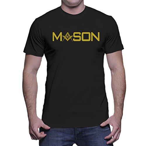 HAASE UNLIMITED Mens Golden Mason - Freemason, Gold T-shirt