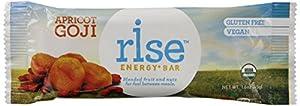 RiseBar Energy Organic, Apricot Goji, 12-Count Bars