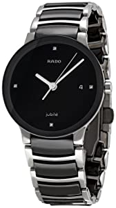 Rado Women's R30934712 Centrix Black Ceramic Bracelet Watch