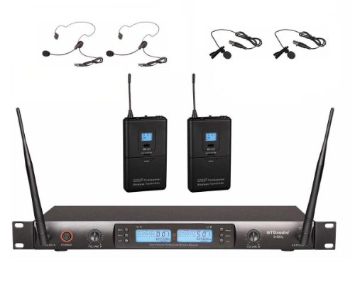 Gtd Audio G-622S Uhf 200 Channel Wireless Microphone System With Headset Mics (Single Ear Hook)
