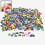 "500 pc Foam TRANSPORTATION Self Adhesive Craft Shapes/CARS/Bike/Truck/PLANE/Stickers/Boy Arts/Crafts/1"" - 2""/Activity"