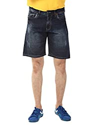YOO Dark Blue color SHORTS for men