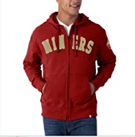 NFL San Francisco 49ers Men's Striker Full Zip Jacket by Twins Enterprise/47 Brand