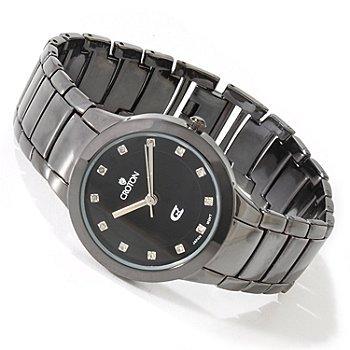 Croton Women's Quartz Diamond Accent Bracelet Watch CX228017BKRD