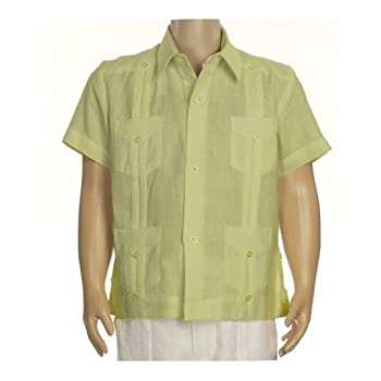 Boys linen short sleeve guayabera in light sage. Final sale