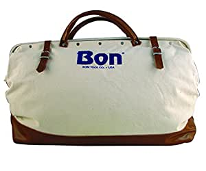 Bon 11-126 24-Inch Heavy Duty Canvas Bag with Leather Bottom