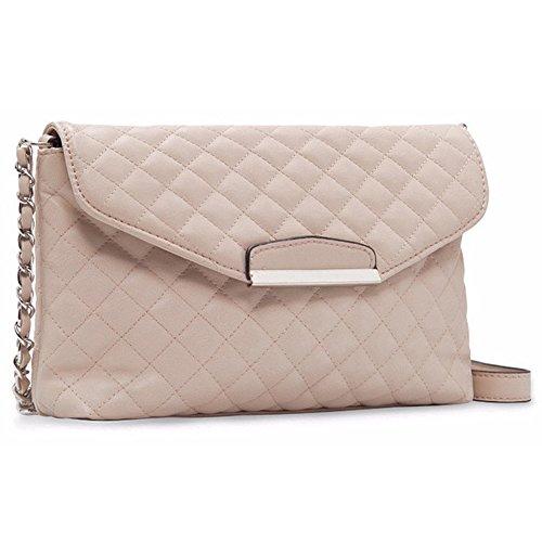 bluevega-chain-diagonal-handbags-retro-simple-shoulder-bag-lingge-clutch-bag-for-women-beige