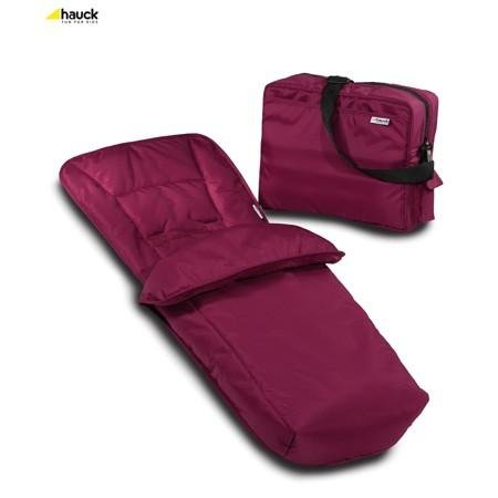 Hauck Accessory Set Change Bag and Footmuff Plum