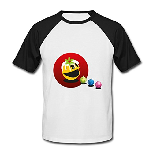 LARger pac-man Men's Baseball Shirt Black S