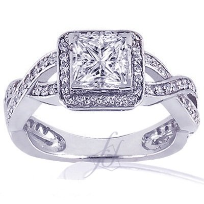 1.40 Ct Princess Cut Diamond Engagement Ring