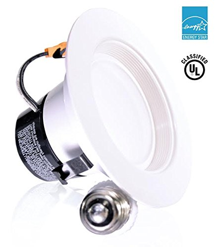 Sunco Lighting 4 Inch LED Recessed Downlight, Baffle Trim, Dimmable, 11W=40W, 2700K Soft White, 660 LM, Wet Rated, Simple Retrofit Installation - UL + Energy Star