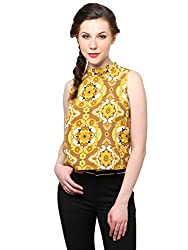 XnY 70s Floral High Neck Crop Top