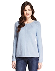 M&S Collection Pure Cotton Panelled Jumper with StayNEW™