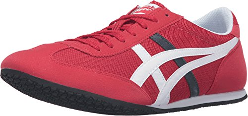 Onitsuka Tiger by Asics Unisex Machu Racer? Cerise/White Sneaker Men's 9.5, Women's 11 Medium