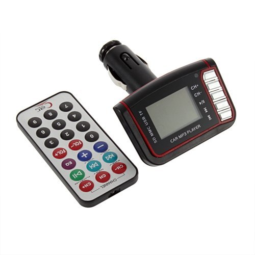 "Kingzer 1.4"" Car Kit Mp3 Player Wireless Fm Transmitter Usb Sd Mmc Lcd Remote Rotary"