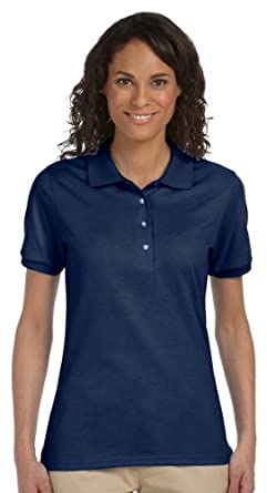 Jerzees 437W Ladies 50/50 Jersey Polo with SpotShield - J NAVY - M