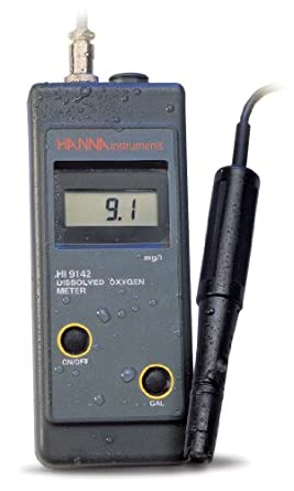 Hanna Instruments HI 9142W Dissolved Oxygen Wine Meter, For Measurements Taken Directly from Bottle