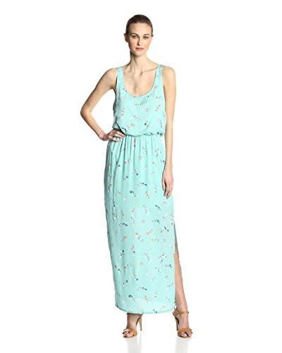 Splendid Women's California Poppies Print Scoop Neck Maxi Dress